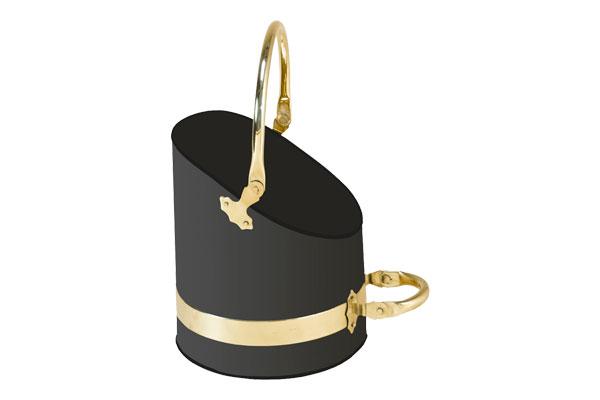Stovax Black & Brass Scuttle