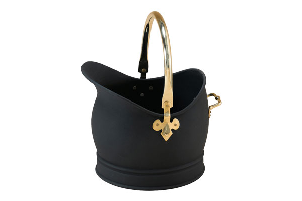 Stovax Large Black & Brass Scuttle