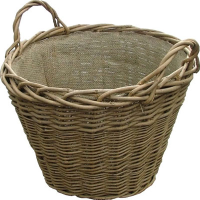 Calfire Wild Willow Basket with Hessian Lining