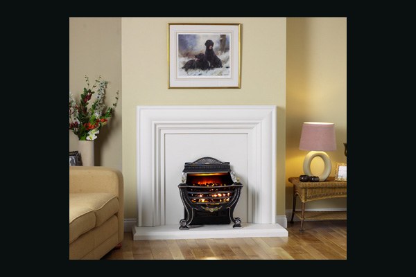 Burley Stamford Satin Basket Electric Fire
