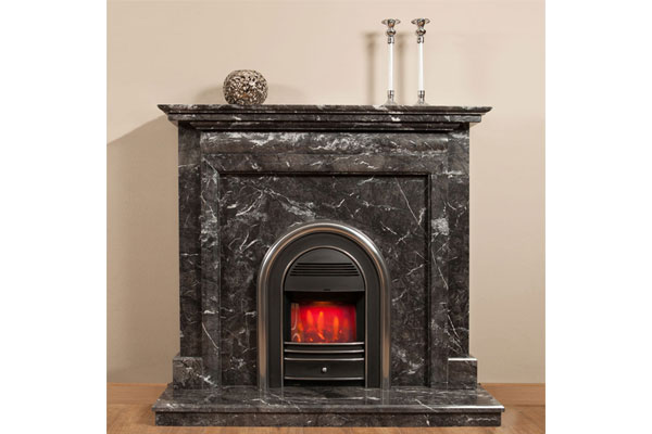 Imperial Fireplace Surround in Grigio Carnico Natural Marble
