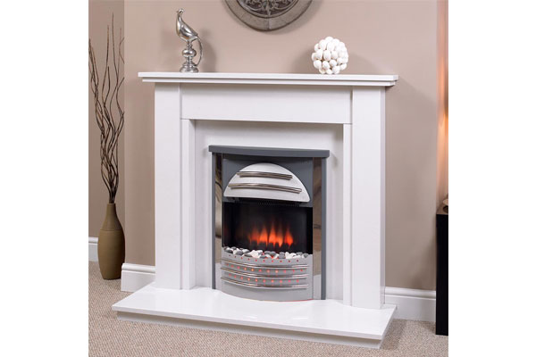 Olivia Fireplace Surround in White Cliff Agglomerate Marble