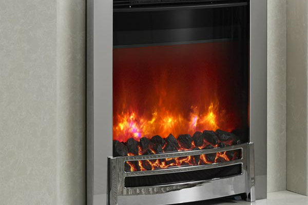 Ember Chrome Inset Electric Fire