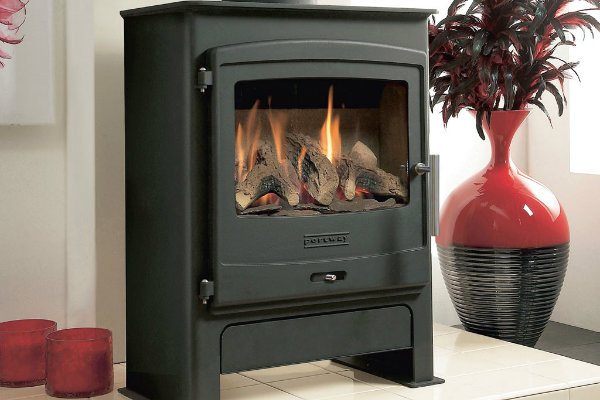 Portway 2 Gas Stove with Log Fuel Effect