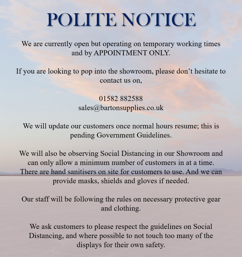 Showroom Polite Notice